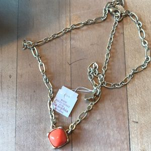 Lia sophia necklace with orange stone